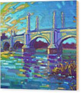 Springfield Memorial Bridge Wood Print by Caleb Colon