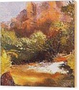 Springs In The Desert Wood Print