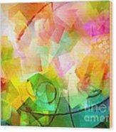 Springtime Abstract Wood Print