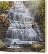 Springtime At Benton Falls Wood Print