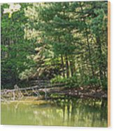 Springtime At Crystal Lake Wood Print