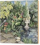 springtime at the Allan gardens Wood Print