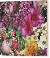 Springtime In Zebulon Left Wood Print