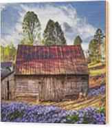 Springtime On The Farm Wood Print
