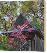 Springtime Pagoda Wood Print