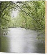 Springtime River Wood Print