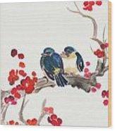 Springtime Sweethearts Wood Print
