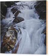 Springtime Waterfall Wood Print
