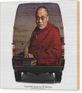 Sprinter Dalai Lama Wood Print