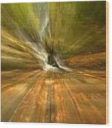 Spruce Flats Falls Explosion Wood Print