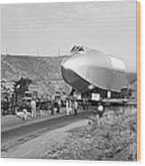 Spruce Goose Hull On The Move Wood Print