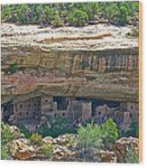 Spruce Tree House Pueblo On Chapin Mesa In Mesa Verde National Park-colorado Wood Print