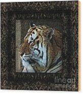 Sq Tiger Profile 6k X 6k Bboo Matt Wood Print