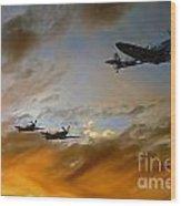 Squadron Scramble Wood Print
