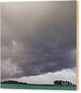 Squall Over The Bay, The Seychelles Wood Print