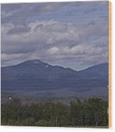 Squam Mountain Range Wood Print