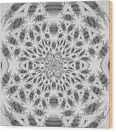 Square Abstract V Wood Print