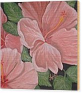 Square Foot Hibiscus Wood Print