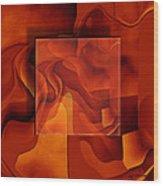 Square On Square Wood Print