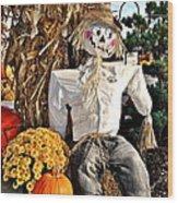 Square Scarecrow Wood Print