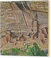 Square Tower House On Chapin Mesa Top Loop Road In Mesa Verde National Park-colorado Wood Print