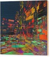 Squarecity1 Wood Print