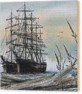 Squarerigger Cove Wood Print