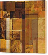 Squares And Rectangles Wood Print by Ann Powell