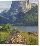 Squaretop Mountain 2 Wood Print