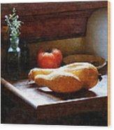 Squash And Tomato Wood Print