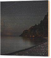 Squaw Bay At Midnight Wood Print