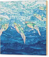 Squid Ballet Wood Print