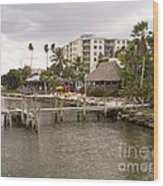 Squid Lips Restaurant  At The Eau Gallie Causeway Over The India Wood Print