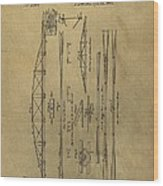 Squire Whipple Truss Bridge Patent Wood Print