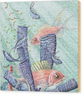 Squirrel Fish Reef Wood Print