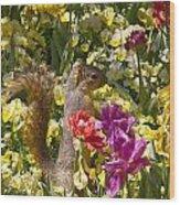 Squirrel In The Botanic Garden-dallas Arboretum V5 Wood Print