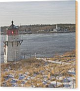 Squirrel Point Lighthouse Kennebec River Maine Wood Print by Keith Webber Jr