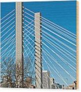 Sr-509 Cable Stayed Bridge Wood Print