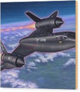 Sr-71 Blackbird Wood Print by Stu Shepherd