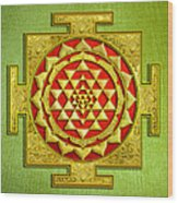 Sri Gold Yantra Wood Print