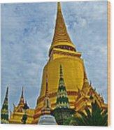 Sri Lanka Pagoda At Grand Palace Of Thailand In Bangkok Wood Print