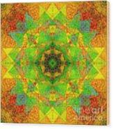 Sri Yantra Variation Mandala Wood Print