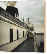 S.s. Badger Car Ferry Wood Print