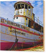 Ss Hurricane Camille Tugboat Wood Print