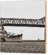 Uss Massachusetts 0001 Wood Print