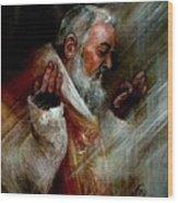 Ss Padre Pio At Matins Wood Print
