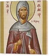 St Anastasios The Persian Wood Print by Julia Bridget Hayes