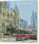 St Andrew Church In Toronto Wood Print