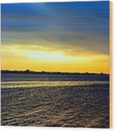St Andrews Bay Sunset Wood Print