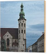 St. Andrew's Church In Krakow At Dusk Wood Print